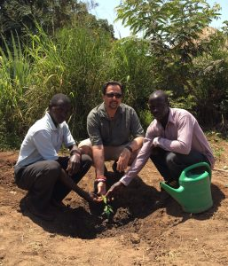 Professor Hamber asked by the local community to plant a tree to remember the missing