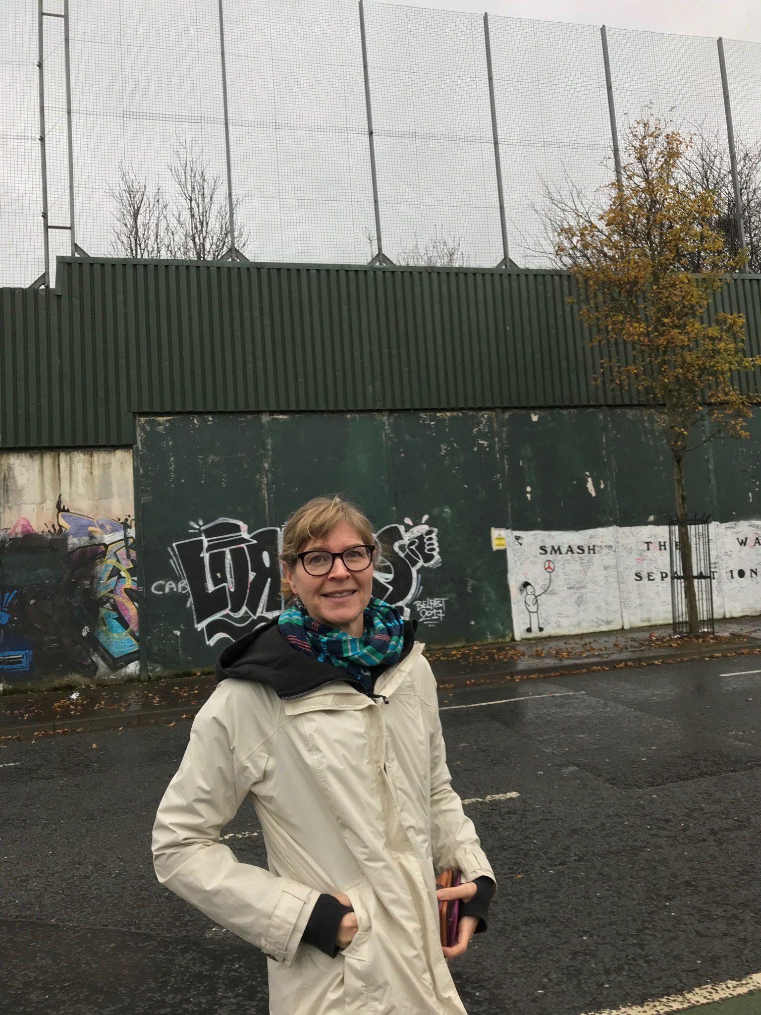 Professor Erin Baines Visits Belfast
