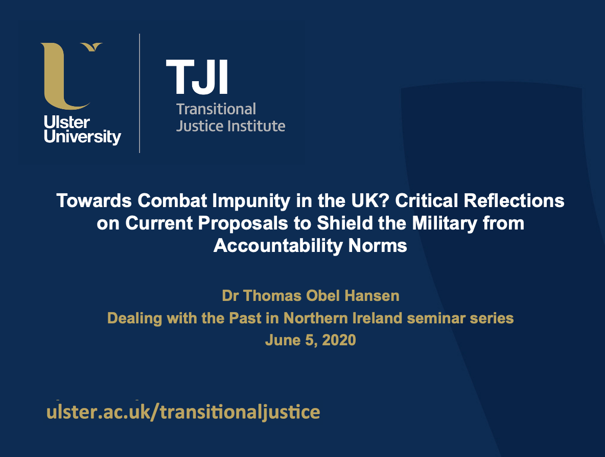 Seminar: UK Combat Impunity