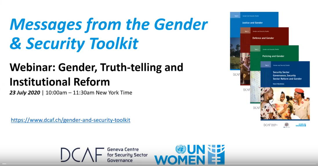 Gender, Truth-telling and Reform